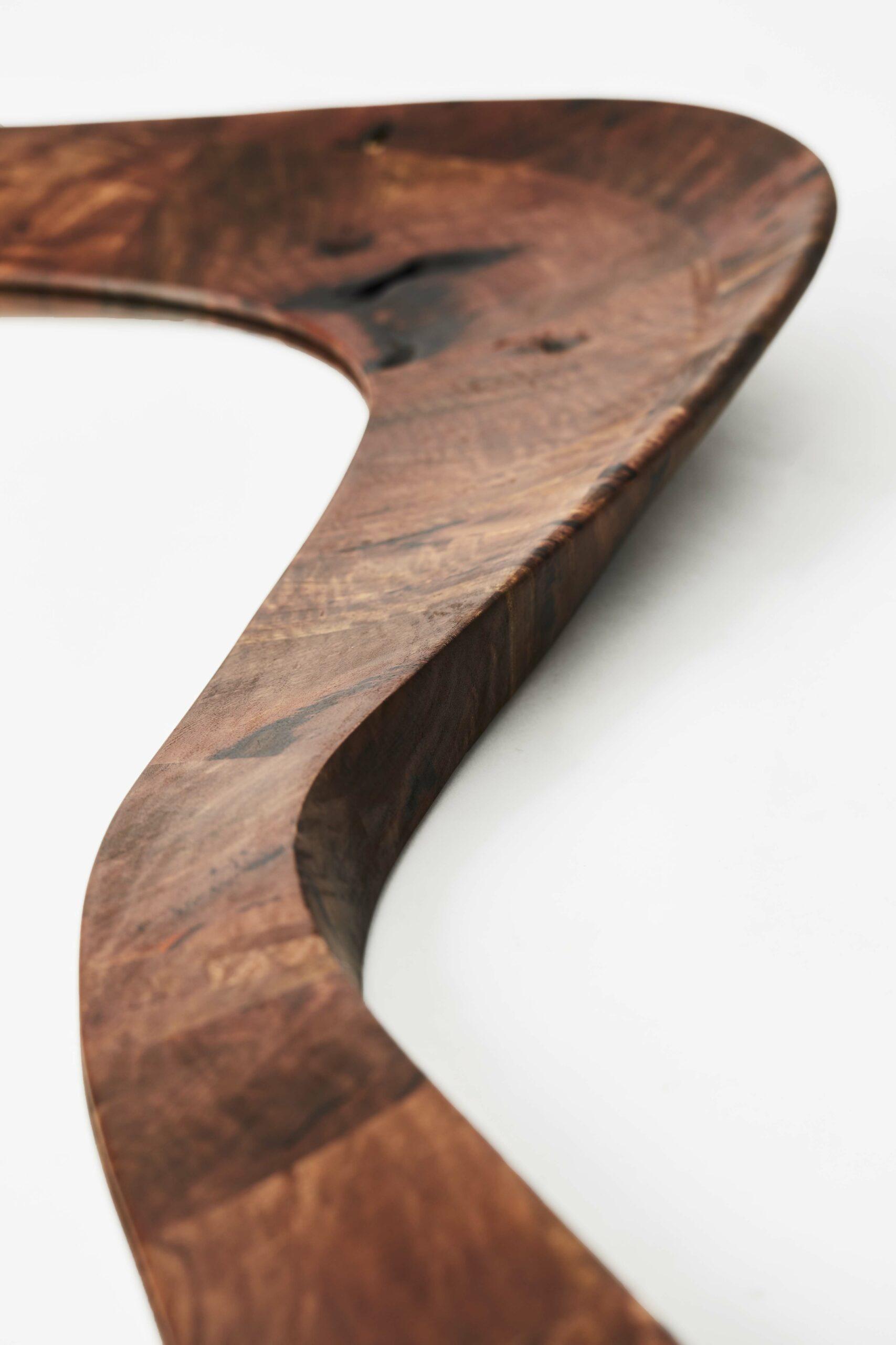 Art - contemporain - galerie d'art - bois - sculpture - miroir - Maxime Goléo